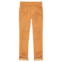 Junior - Pantalon en velours côtelé effet crinkle avec découpes sur les jambes
