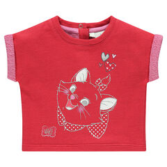Sweat court manches courtes en molleton print Disney Marie
