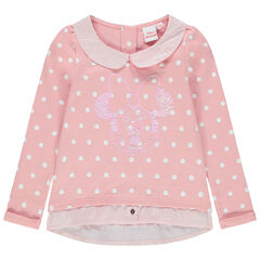 Sweat en molleton effet 2 en 1 motif Minnie Disney en sequins