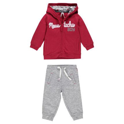 Jogging avec veste à capuche zippée et pantalon en molleton