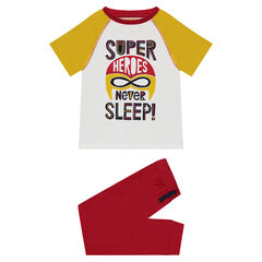 Pyjama en jersey avec print super-héros