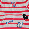 Dors-bien en velours rayé avec badges Mickey Disney