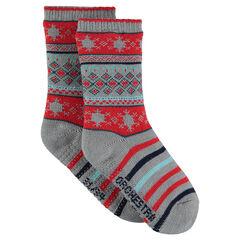 Chaussettes antidérapantes à motif jacquard esprit Noël
