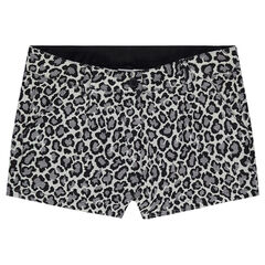 Junior - Short en jacquard avec imprimé léopard all-over