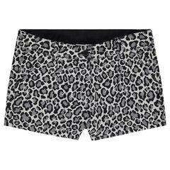 Junior - Short en jacquard avec imprimé léopard all-over