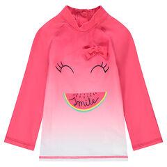 Tee-shirt de bain effet tie and dye anti-UV avec print pastèque