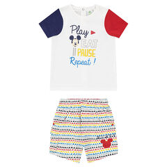 Ensemble tee-shirt print Mickey et short imprimé