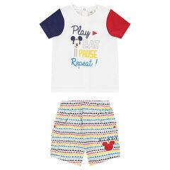 Ensemble tee-shirt print Mickey et short imprimé
