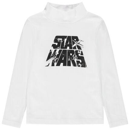 Sous-pull en jersey uni col roulé print Star Wars
