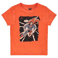 Tee-shirt manches courtes en jersey surteint print ©Warner Superman