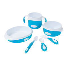 Set repas 6 pièces - Bleu