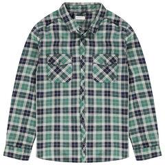 Junior - Chemise manches longues à carreaux et poches