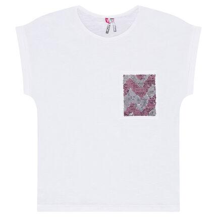 Junior - Tee-shirt forme boîte avec poche en sequins magiques