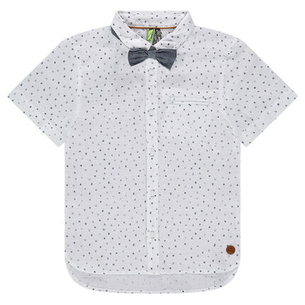Chemise manches courtes imprimée all-over avec noeud papillon 65d87c7671c