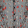 Junior - Robe à fleurs imprimée vichy