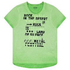 Junior - Tee-shirt manches courtes en jersey surteint avec inscriptions printées