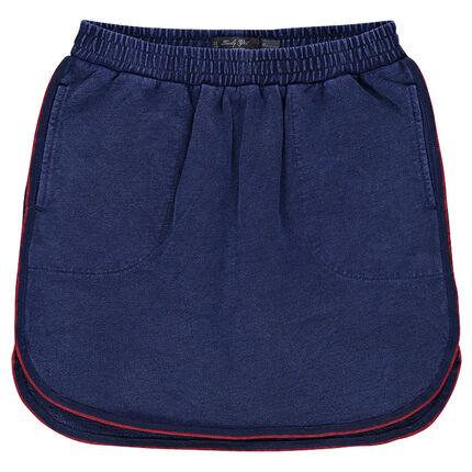 Junior - Jupe courte en molleton slub