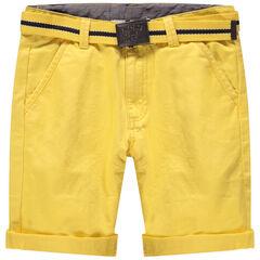 Junior - Bermuda en coton surteint avec ceinture amovible