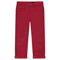 Junior - Pantalon en twill uni