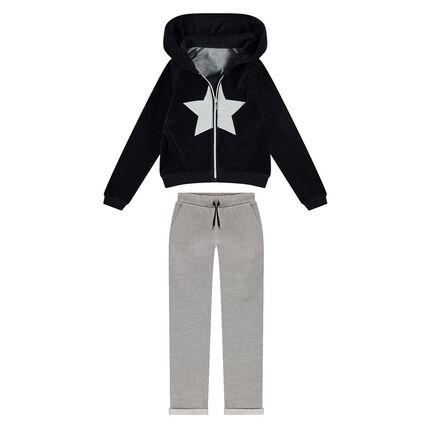 Junior - Jogging avec veste en velours et pantalon en molleton ... 5fa3dc36e63