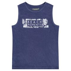 Junior - Débardeur en jersey avec inscription printée