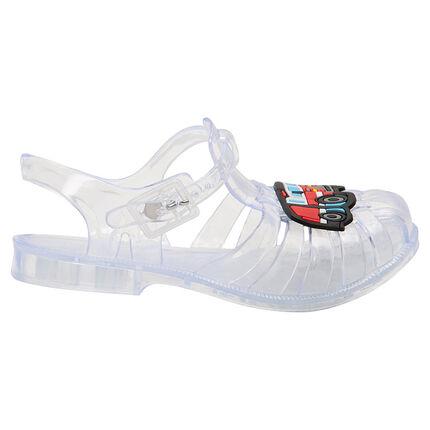 Chaussures de plage transparentes avec camion plastifiée du 24 au 29
