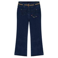 Jeans flare en molleton
