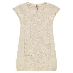 Junior - Robe manches courtes en tricot