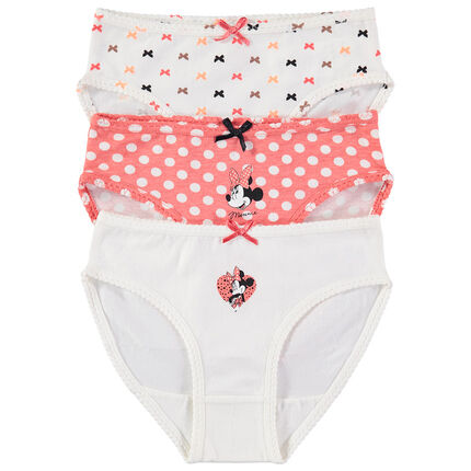 Lot de 3 culottes en coton Minnie Disney