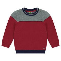 Pull en tricot ottoman bicolore