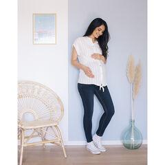 Chemise de grossesse manches courtes à rayures verticales , Prémaman