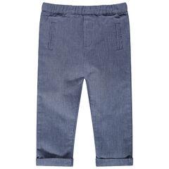 Pantalon en maille fantaisie à poches