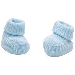 Chaussons bleus en coton bio