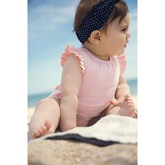 Combinaison courte en coton bio et manches volantées pour bébé fille , Orchestra