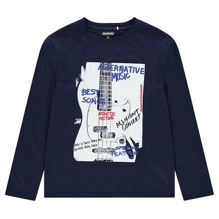 Junior - Tee-shirt manches longues en jersey avec motif fantaisie