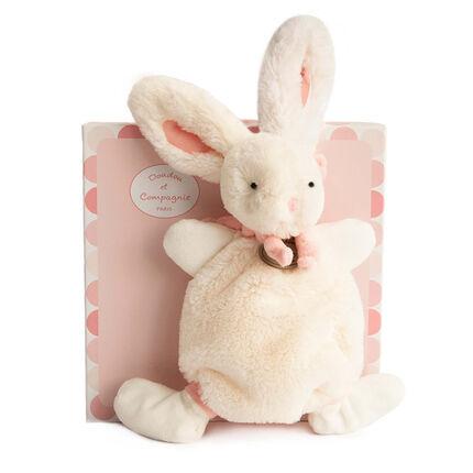 Doudou lapin bonbon - Rose