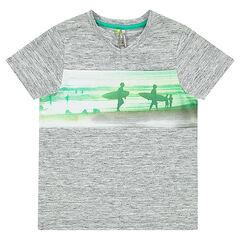 Tee-shirt manches courtes avec print paysage