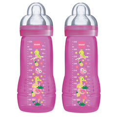 Lot de 2 biberons 330 ml - Rose