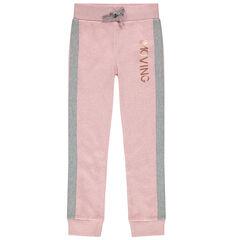 Pantalon de jogging en molleton à bandes et inscription cuivrée