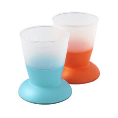 Lot de 2 verres - Orange/Turquoise