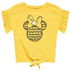 Tee-shirt manches courtes à manches volantées et print Minnie ©Disney