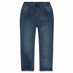 e4ec4d4c756cb Jeans coupe droite effet délavé à taille élastiquée