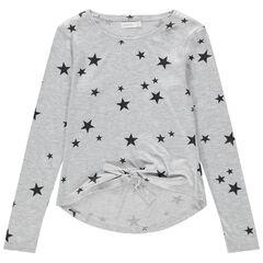 Junior - T-shirt manches longues en jersey à étoiles printées