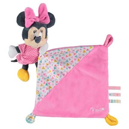 Doudou Disney avec peluche Minnie cousue