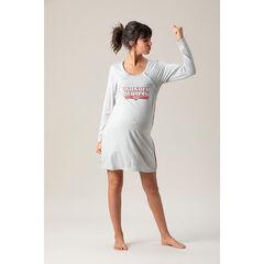 Chemise de nuit manches longues de grossesse et d'allaitement Wonder Woman