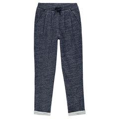 Junior - Pantalon loose en molleton fantaisie pailleté