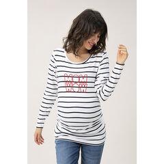 T-shirt de grossesse manches longues à message en sequins