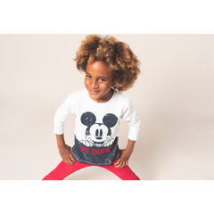 Tee-shirt manches longues en jersey avec print Mickey ©Disney effet crinkle