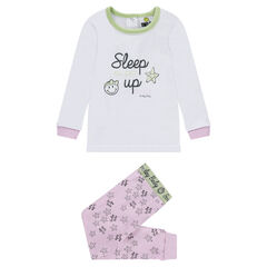 Pyjama en jersey print ©Smiley avec bas imprimé all-over