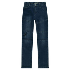 Junior - Jeans coupe slim avec découpes et déchirures fantaisie